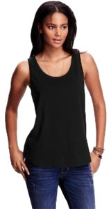 Old Navy Relaxed Cotton Blend Top Black