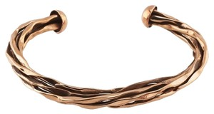 Modern 7mm Copper Twisted Wire Cuff Bracelet by BrianG @ BrianGdesigns