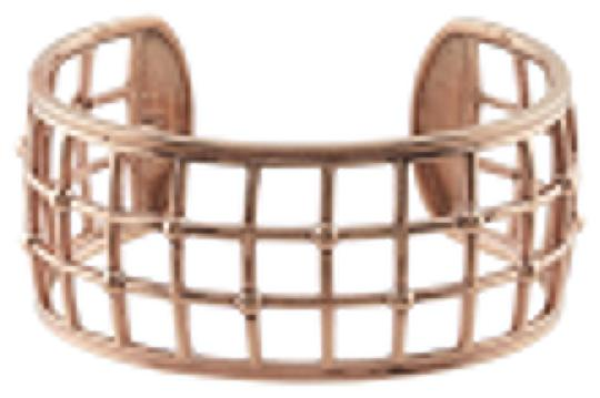 Other Bold Modern Copper Open Squares Cuff Bracelet with Beaded Accents by BrianG @ BrianGdesigns