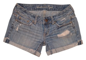 American Eagle Outfitters Denim Summer Shorts Classic Distressed Denim Shorts-Distressed