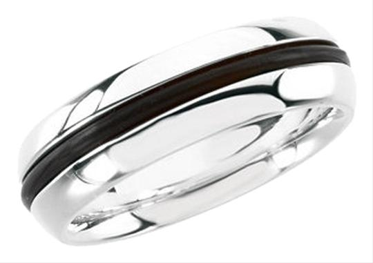 Other Ladies Designer .925 Sterling Silver and Black Rubber Fashion Ring by BrianG @ BrianGdesigns