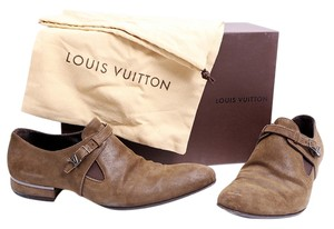 Louis Vuitton Lv Mens Brown Flats