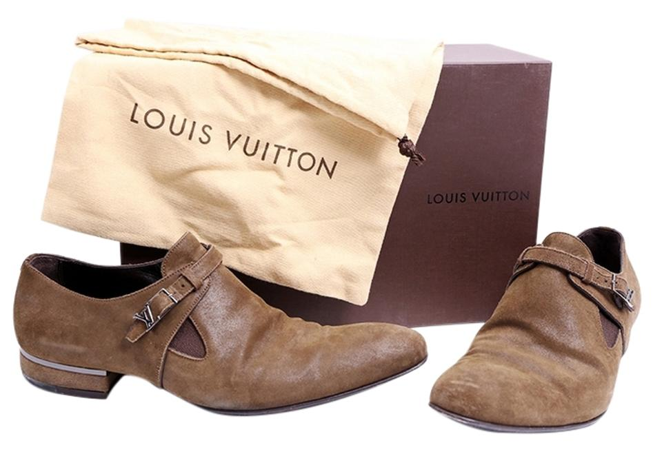 56d35753adab Louis Vuitton Brown Mens Suede Flats Size US 9 Regular (M