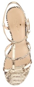 Kate Spade Natural Snake-Print Leather Platforms