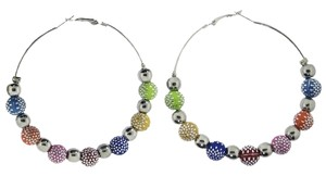 Basketball Wives Hoop Earrings : Multi Color