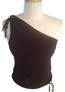 Laundry by Shelli Segal One Shoulder Tie Top Plum