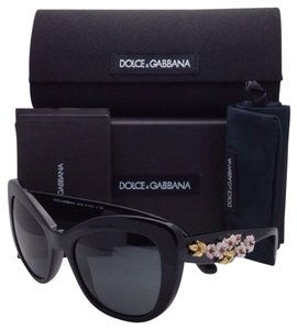 Dolce&Gabbana New DOLCE&GABBANA Sunglasses DG 4230-M 501/87 Black Frame w/ Flowers & Grey Lenses