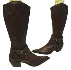ZeroBD Pointed Brown leather cowboy E41 Boots