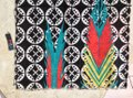 MIR MIR Turquoise/multi bows and arrows long cotton scarf Image 1