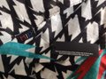 MIR MIR Turquoise/multi bows and arrows long cotton scarf Image 3