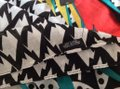 MIR MIR Turquoise/multi bows and arrows long cotton scarf Image 4