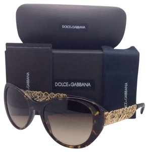 Dolce&Gabbana DOLCE&GABBANA Sunglasses DG 4213 502/13 55-19 Havana Cat-Eye Frame w/Brown Gradient Lenses