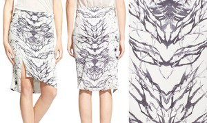 Haute Hippie Pencil Skirt White/Black