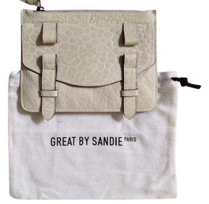 GREAT by Sandie Leather Small Bone Clutch