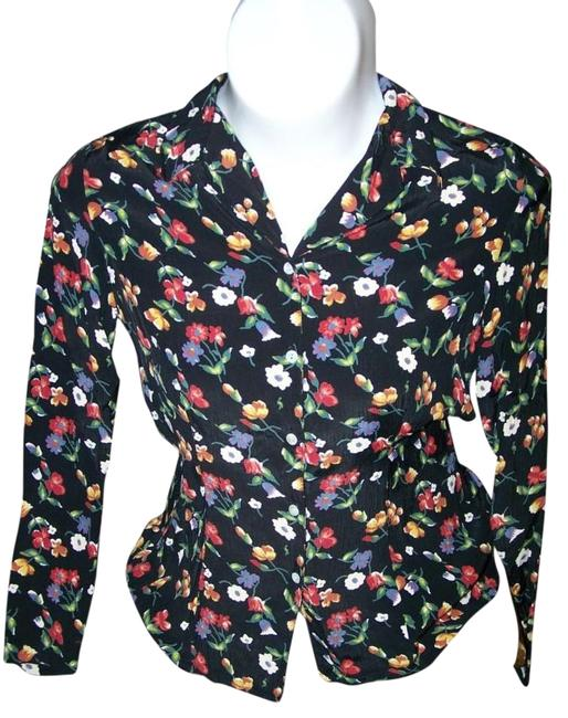 Gap Button Up Like New Long Sleeve Floral Button Down Shirt MULTI COLOR