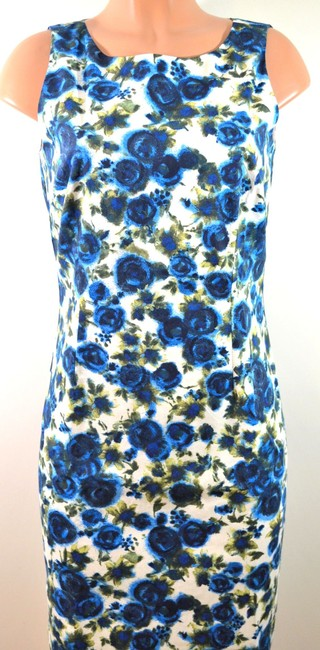 Ann Taylor short dress Blue/Green Floral on Tradesy