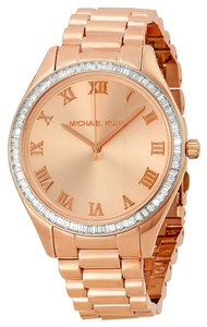 Michael Kors Rose Gold Crystal Bezel Stainless Steel Ladies watch