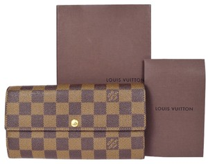 Louis Vuitton Auth LOUIS VUITTON Portefeuille Sarah Long Bifold Wallet Damier BN N61734