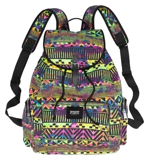 Preload https://item4.tradesy.com/images/victoria-s-secret-pink-neon-print-aztec-cotton-canvas-backpack-1126418-0-0.jpg?width=440&height=440