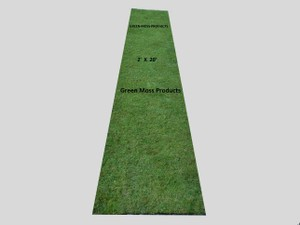 2'x8' Moss Aisle Runner Chapel Church Alter Wedding Christmas Sophisticated Diy Rustic Outdoor Roll Bride Groom Floral