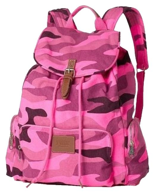 Item - Pink (Camo) Cotton Canvas Backpack