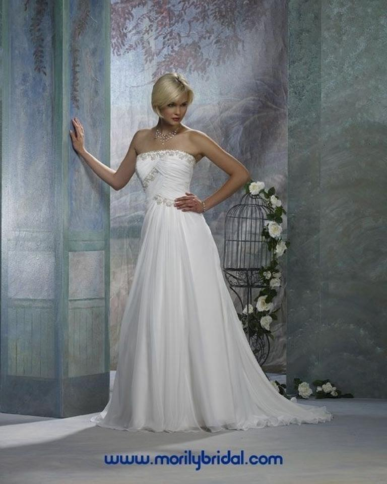 Forever yours international modern up to 90 off at tradesy for Forever yours international wedding dresses