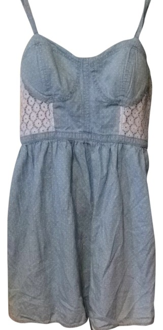 Preload https://img-static.tradesy.com/item/1126503/candie-s-denim-and-lace-short-casual-dress-size-12-l-0-0-650-650.jpg