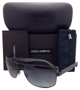 Dolce&Gabbana Polarized DOLCE&GABBANA Sunglasses DG 2120P 1169/T3 64-13 Black Frame w/ Grey gradient Lenses