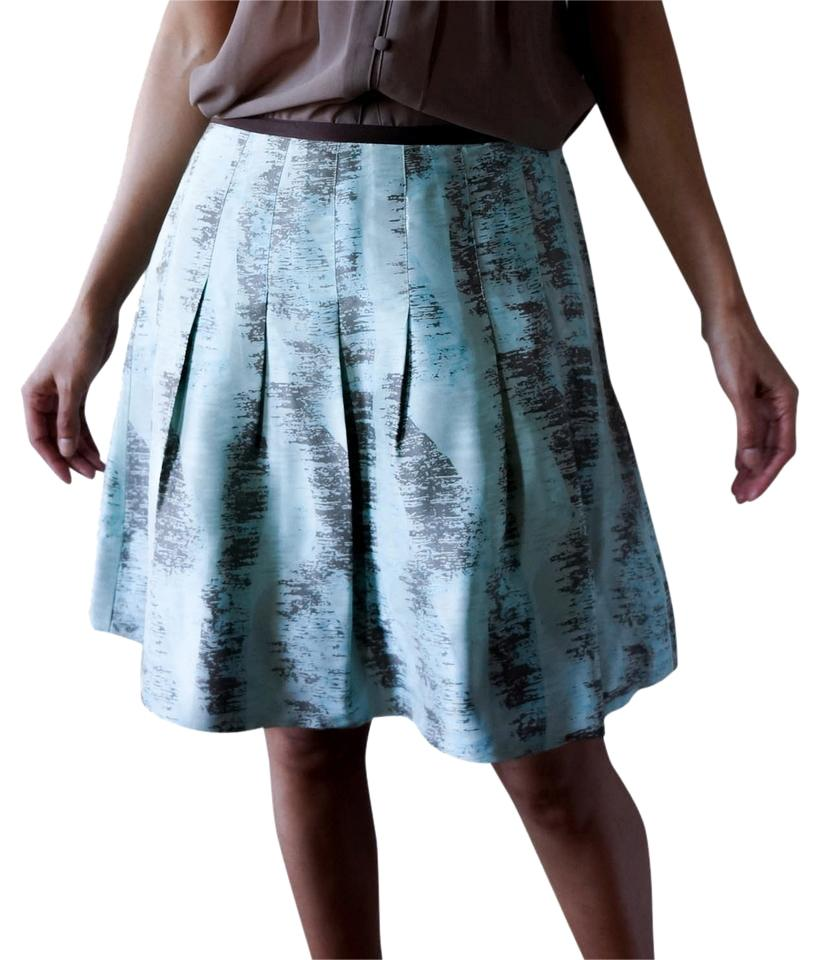 Anthropologie Blue And Brown Black Low Rise A Line With Embroidery