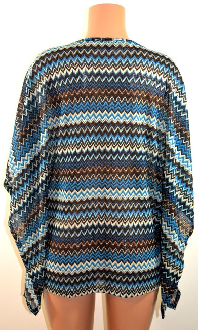 Christin Michaels Top Blue-Multi