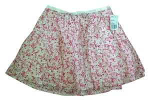 Forever 21 Mini Skirt Pink/ White