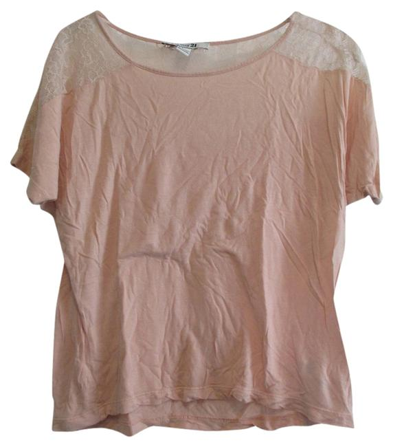 Preload https://item5.tradesy.com/images/forever-21-pink-tee-shirt-size-4-s-1126694-0-0.jpg?width=400&height=650