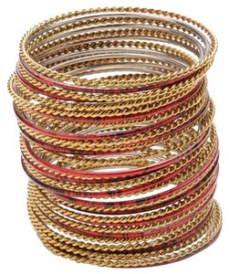 Amrita Singh Gorgeous Amrita Sing Set of 36 Two Tone Bangle Bracelets