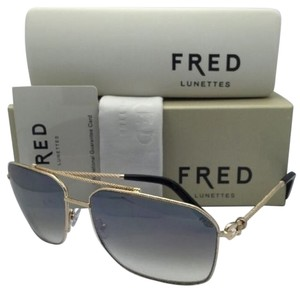 Fred Lunettes New FRED LUNETTES Sunglasses FORCE 10 C5 8426 206 63-15 Gold Frame w/ Brown Gradient Lenses