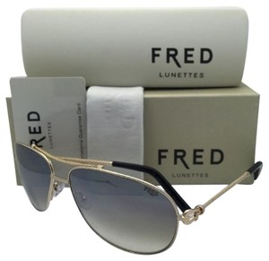 Fred Lunettes New FRED LUNETTES Sunglasses FORCE 10 C4 8425 206 64-14 Gold Frame w/ Brown Gradient Lenses