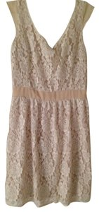 American Eagle Outfitters short dress cream Lace Cut-out Knee Length on Tradesy