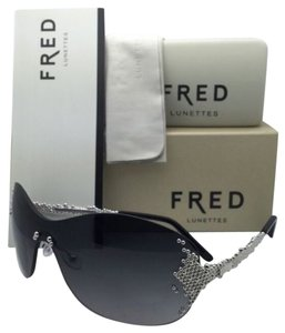 Fred Lunettes New FRED LUNETTES Sunglasses PEARLS F6 8449 102 Palladium Frame w/ Grey gradient lens