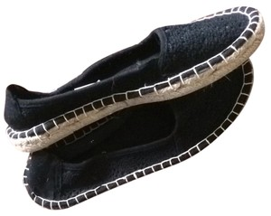Maurices Black With Tan On Sides Flats