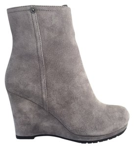 Prada Grey Suede Wedge Gray Boots