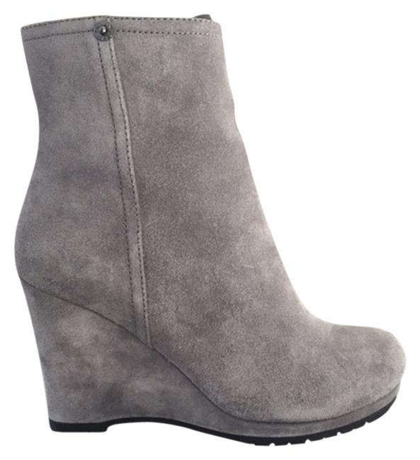 Item - Gray Suede Wedge Boots/Booties Size US 6.5