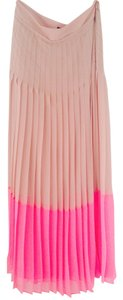 Ted Baker Color-blocking Pleated Maxi Skirt Pink