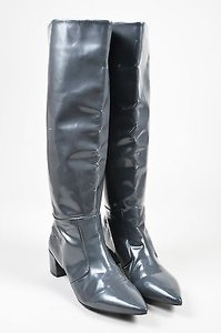 Jil Sander Navy Coated Gray Boots