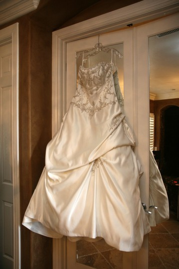 Maggie Sottero Ivory/Pewter Nevaya Wedding Dress Size 18 (XL, Plus 0x)
