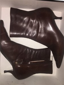 Chanel Cc Leather brown Boots