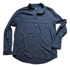 Old Navy Button Down Shirt Charcoal gray