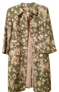 Ann Taylor LOFT Green and White Jacket