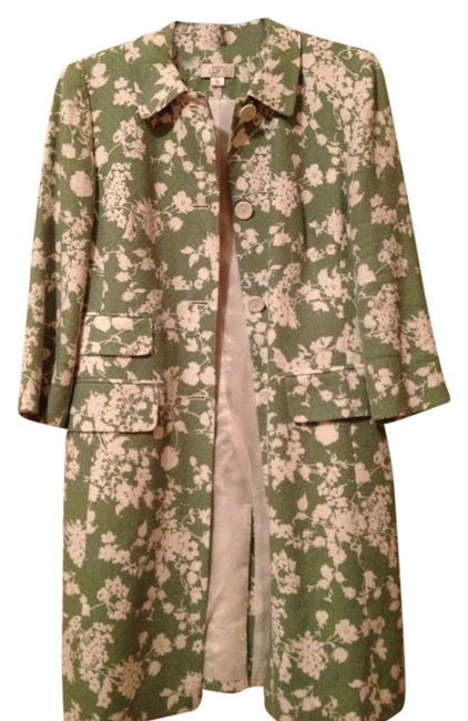 Item - Green and White Coat Jacket Size 8 (M)