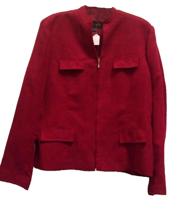 Preload https://item3.tradesy.com/images/studio-one-red-blazer-1127477-0-0.jpg?width=400&height=650