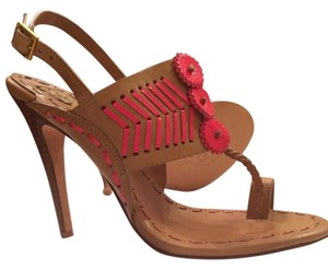 Tory Burch Beige Pink Sandals