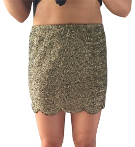 English Rose Mini Skirt Gold sparkles